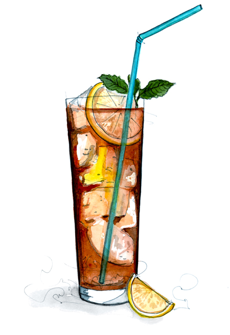 long island iced tea drawing