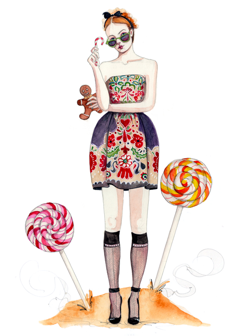 fashion fairytale illustration by tracy hetzel
