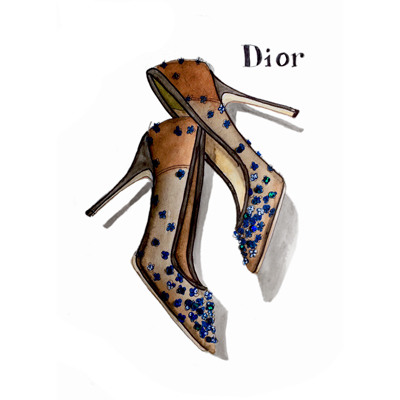 dior shoes by tracy hetzel