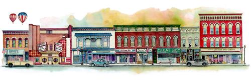 wellsville ny illustration by tracy hetzel