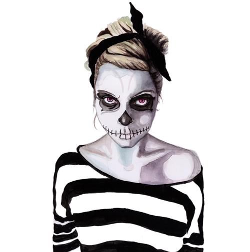 halloween fashion illustration by tracy hetzel