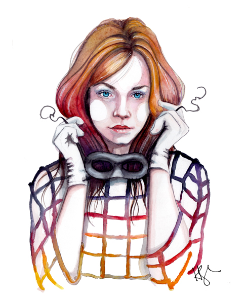 watercolor fashion illustration by tracy hetzel