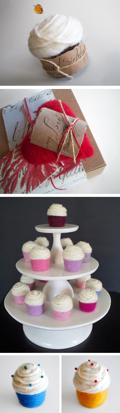 felted cupcakes by tracy hetzel