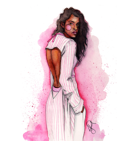 pooja mor fashion illustration by tracy hetzel