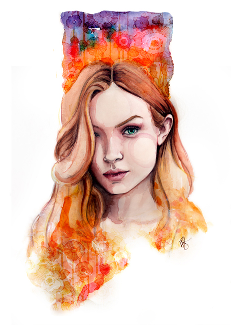 Josephine Skriver portrait by tracy hetzel