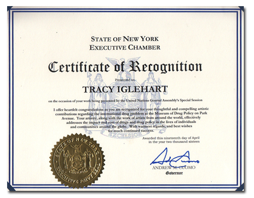 tracy hetzel certificate of recognition