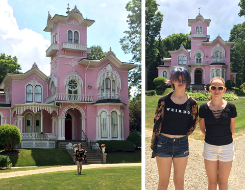 wellsville ny pink house