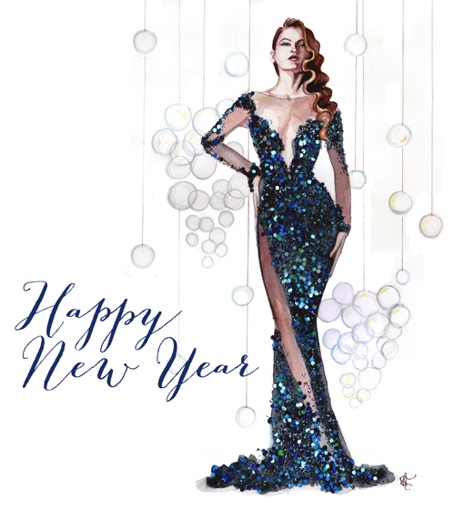 New Year Illustration by Tracy Hetzel